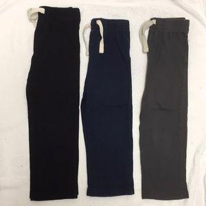 EUC Black Navy Gray Old Navy Drawstring Pants 4T